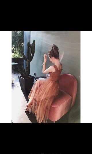 🚚 小禮服洋裝(粉紅色)