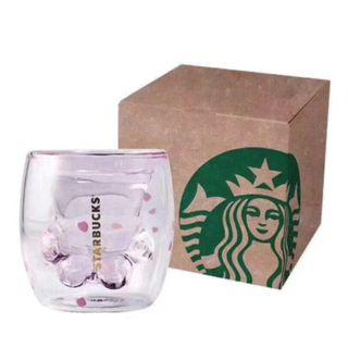 🚚 Original Starbucks Cat Paw Cherry Blossom Double-Walled Insulated Cup