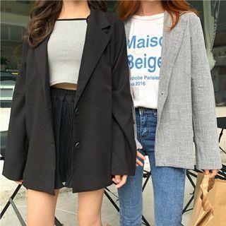 Korean Grey Blazer Suit Instock