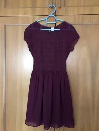 H&M dress in maroon