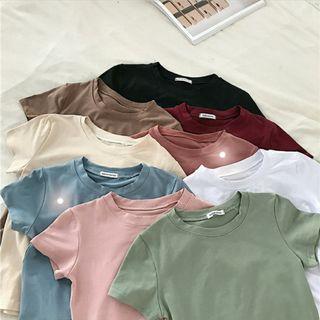 Korean Basic Plain Colour Top
