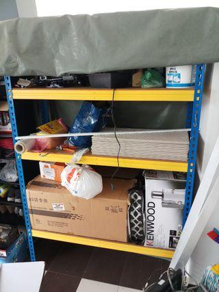 Standard yellow metal shelve(4 levels) - Negotiable