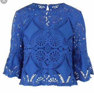 🚚 Blue crochet top