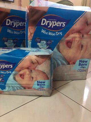 Drypers wee wee dry NB