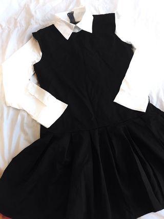 Korean Style Black Dress #ETS50