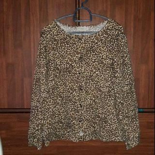 Leopard Cardigan. Can be blouse