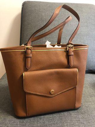 Michael Kors Jetset Genuine Tan Leather