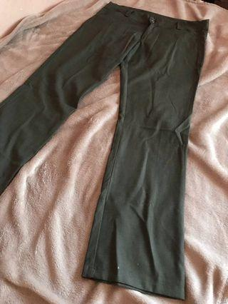 REPRICED! DARK ARMY GREEN OFFICE TROUSERS/SLACKS