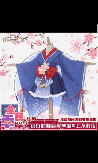 Todoroki Shouto female ver mini yukata cosplay costume