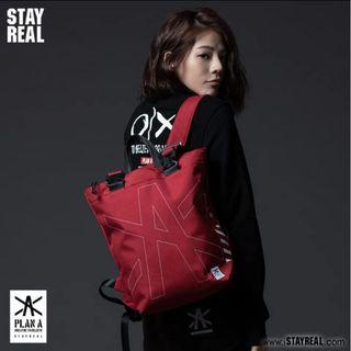 Stayreal Plan A Red Backpack