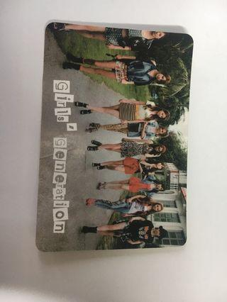 Girls generation yes card