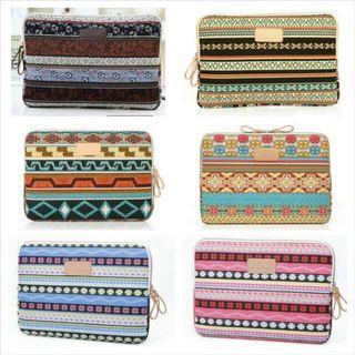 NEW 13designs! INSTOCK Tribal Aztec Bohemian Leopard Handbag Prints Checkered Vintage Laptop Kindle Amazon Paperwhite MacBook Microsoft surface Case Sleeve File Holder