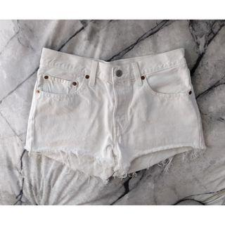 LEVIS 501 Shorts Lost Horizon White Denim Short Shorts Authentic Levi Denim Distressed Bleached Ripped