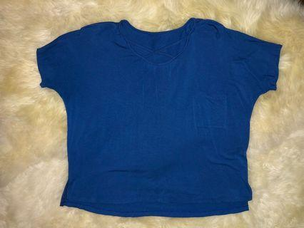 Blue cris-cross shirt