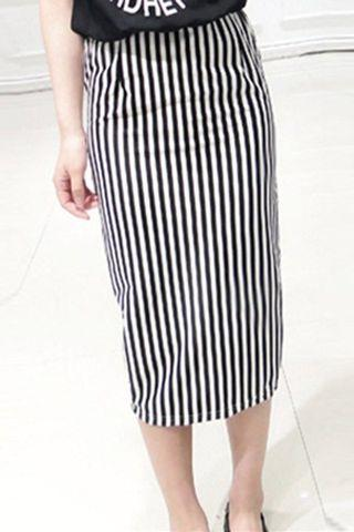 🚚 Striped Skirt bodycon