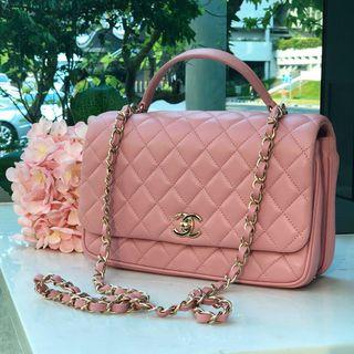 b3a31eee3820 Rare Chanel Citizen Chic Small Flap in Pink Lambskin Light GHW