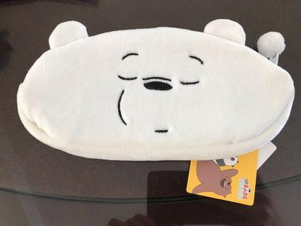 🚚 Brand new with tag: Miniso We Bare Bears Pen Bag (Ice Bear)
