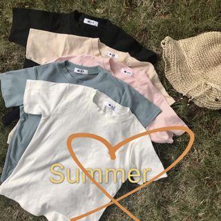 [INSTOCK] BLACK Korean Basic Plain T-shirt Tee