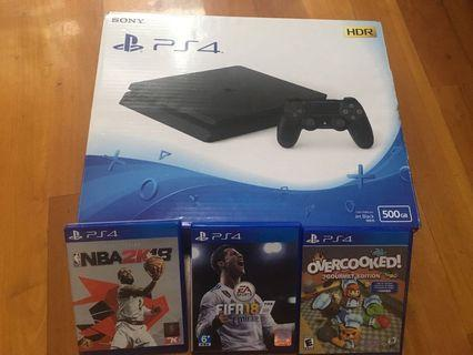 PS4 Slim 500GB jet black(2018年4月買,玩左10次)