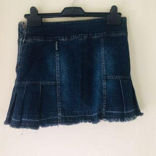 US Polo Indigo Denim Miniskirt