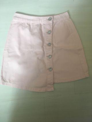 🚚 Baby pink button up skirt