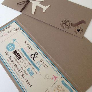 Event & Wedding Ticket Invitation Card with Perforated Lines
