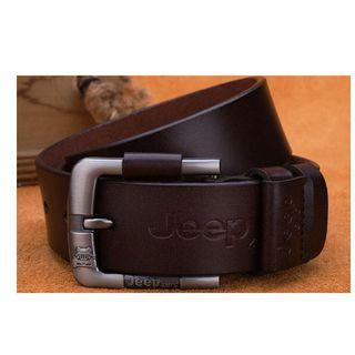 New Fashion Men Buckle Leather Belt - Free watch