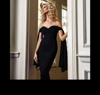 Black Off Shoulder Dress evening dress size xs-L