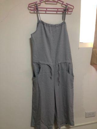 🚚 灰色可調整式吊帶褲