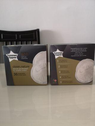 2 box of Disposal Breast Pads