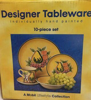 Mobil Designer Tableware ( plates / bowls, etc)  #EndgameYourExcess