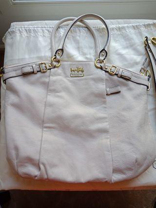 Coach handbag with strap