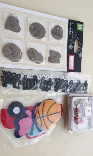 Die cuts and Scrapbooking materials/ Embellishments
