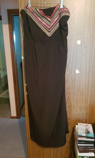 City Chic Strapless Maxi Dress. Size M