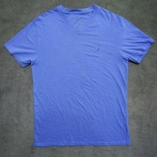 Nautica小帆船 棉T-shirt 短T 藍色男XL號