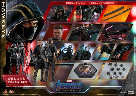 *PO* Hot toys Hot Toys MMS531 Avengers: Endgame Hawkeye 1/6th Scale Collectible Figure with authentic and detailed likeness of Jeremy Renner as Hawkeye from Avengers: Endgame