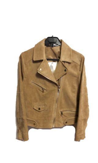 H&M Woman Faux Suede Moto Jacket