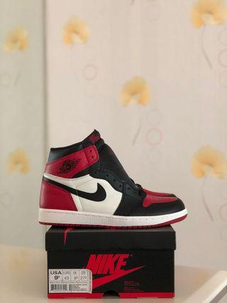 promo code 6c98e d6ea8 BNIB Nike Air Jordan 1 Retro High OG Bred Toe US9.5