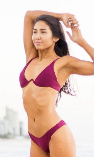 Burgundy Bikini // Underwire Size 8