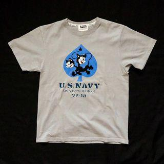 PHERROWS XS/S USN GRAPHIC TSHIRT MADE IN JAPAN