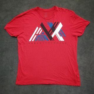 ARMANI Exchange ax 短T shirt 棉t 紅色男XXL號 大尺碼