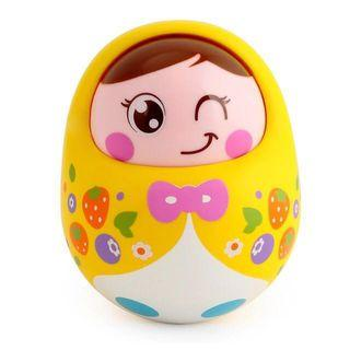 Instock - yellow tumbler doll toy, baby infant toddler girl