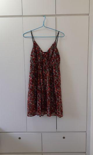 碎花吊帶裙 mini flower strap dress