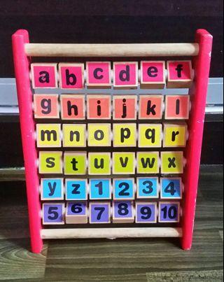 CHAD VALLEY Wooden Alphabet & Number Frame