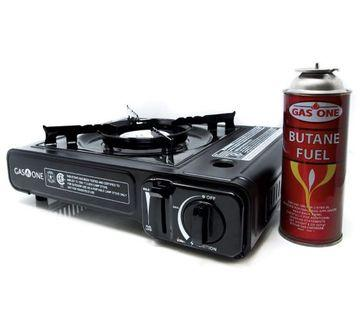 Portable gas stove, with two cans of gas 露營爐