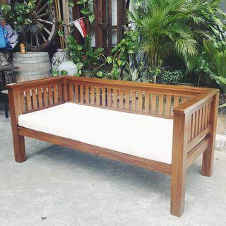 Sofa Daybed Ruji Wooden Sofa Teak Wood 3 seater