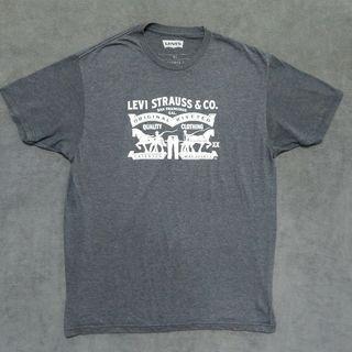 Levi Levis 美版桶型 短T shirt u s男XL號 大尺碼 灰色