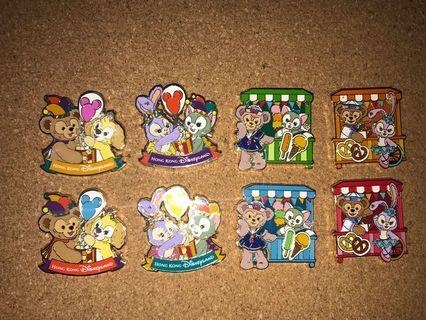 迪士尼襟章duffy and friends cookie stellalou pin trading