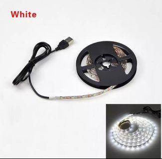 USB 1M-5M LED Strip Light (White/ Warm White)