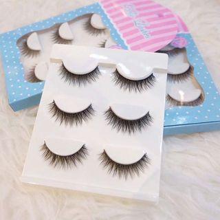 Korean Lashes 3D - 100% human hair (F01) Hellonails